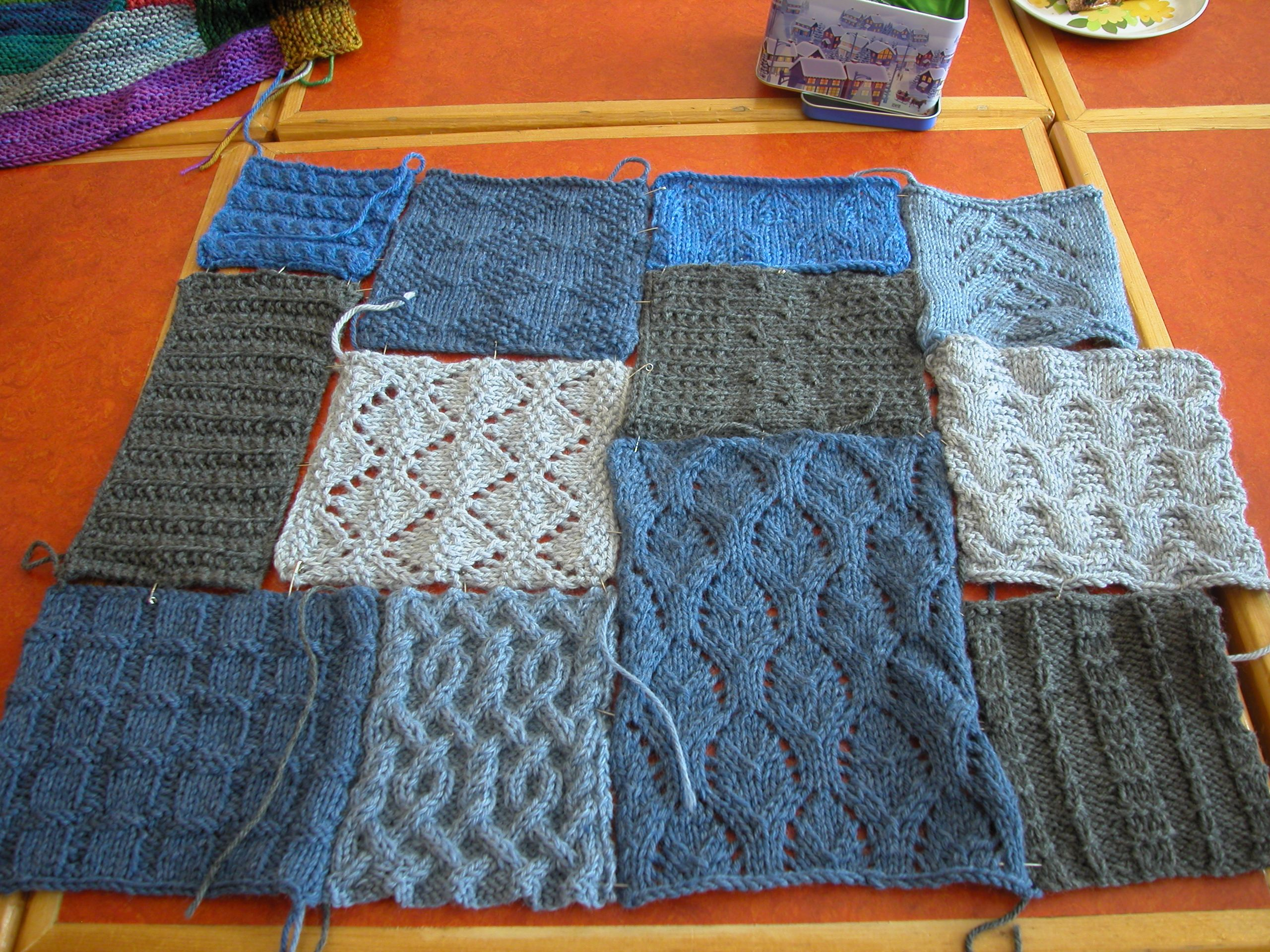 Knitting Patchwork Quilt Patterns : Patchwork delight the knit cafe