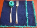 crocheted napkin