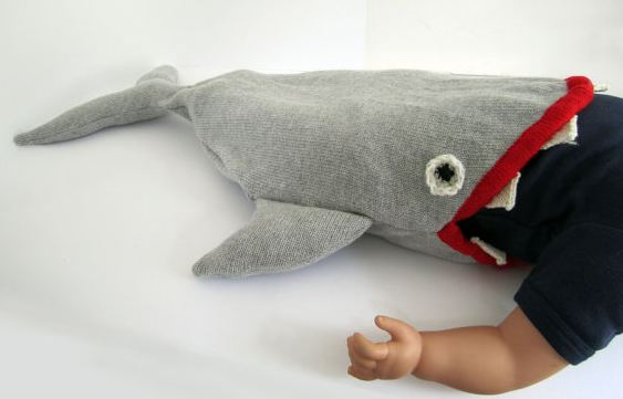 Knitting Pattern Shark Sleeping Bag : knitted halloween costumes the knit cafe
