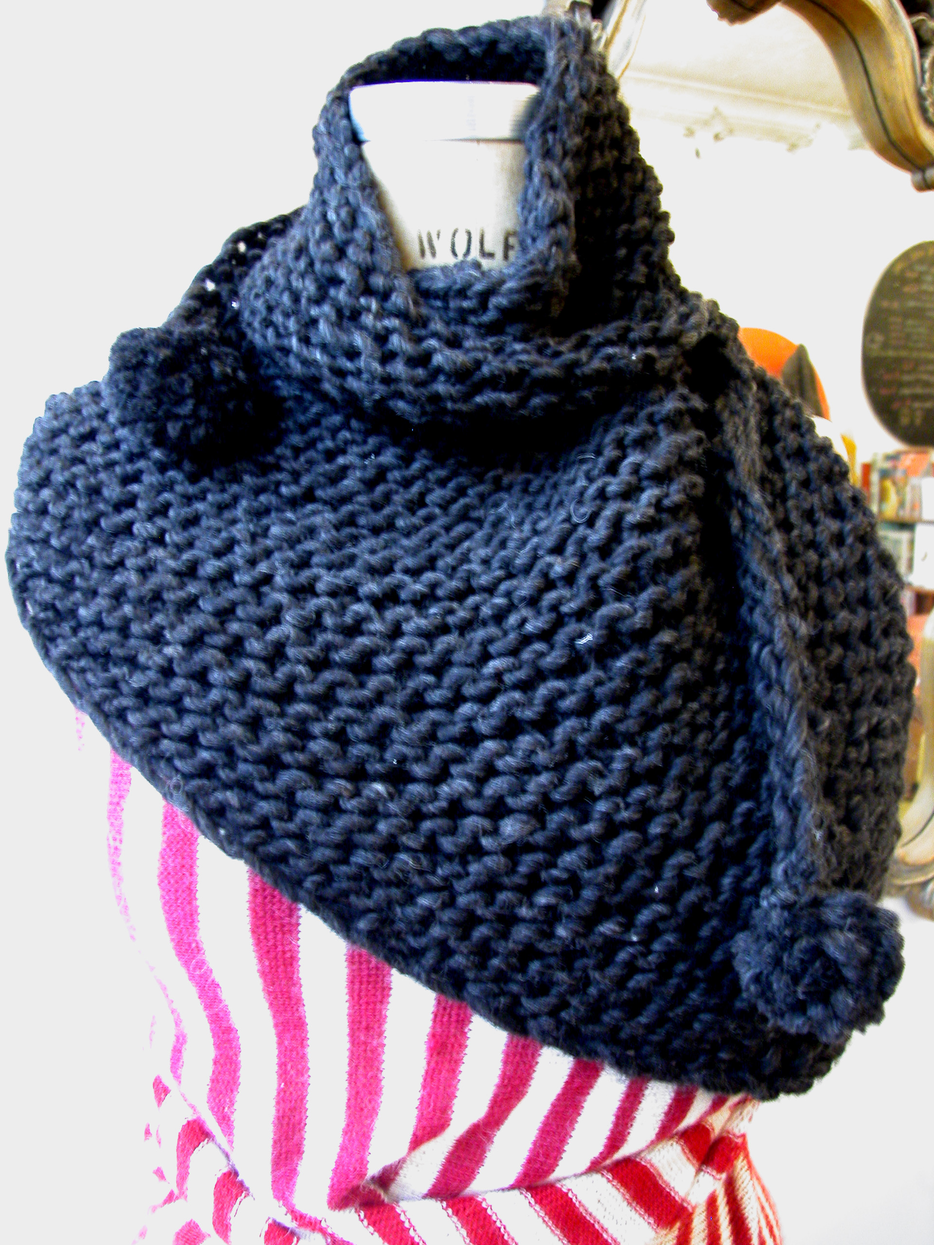 Knitting Pattern Wool Scarf : Martin Scarf the knit cafe