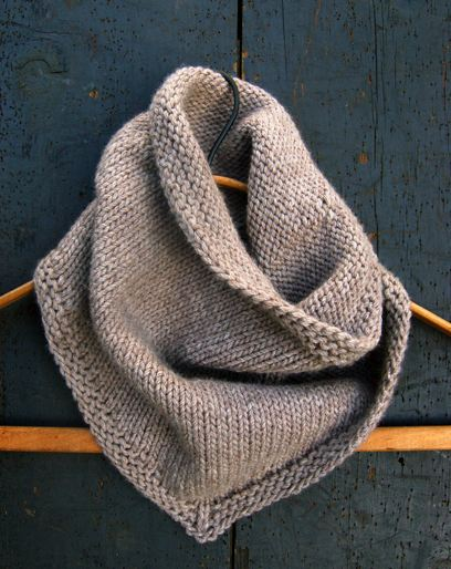 Simple Knit Cowl Pattern : hipster cowl knitting patterns the knit cafe