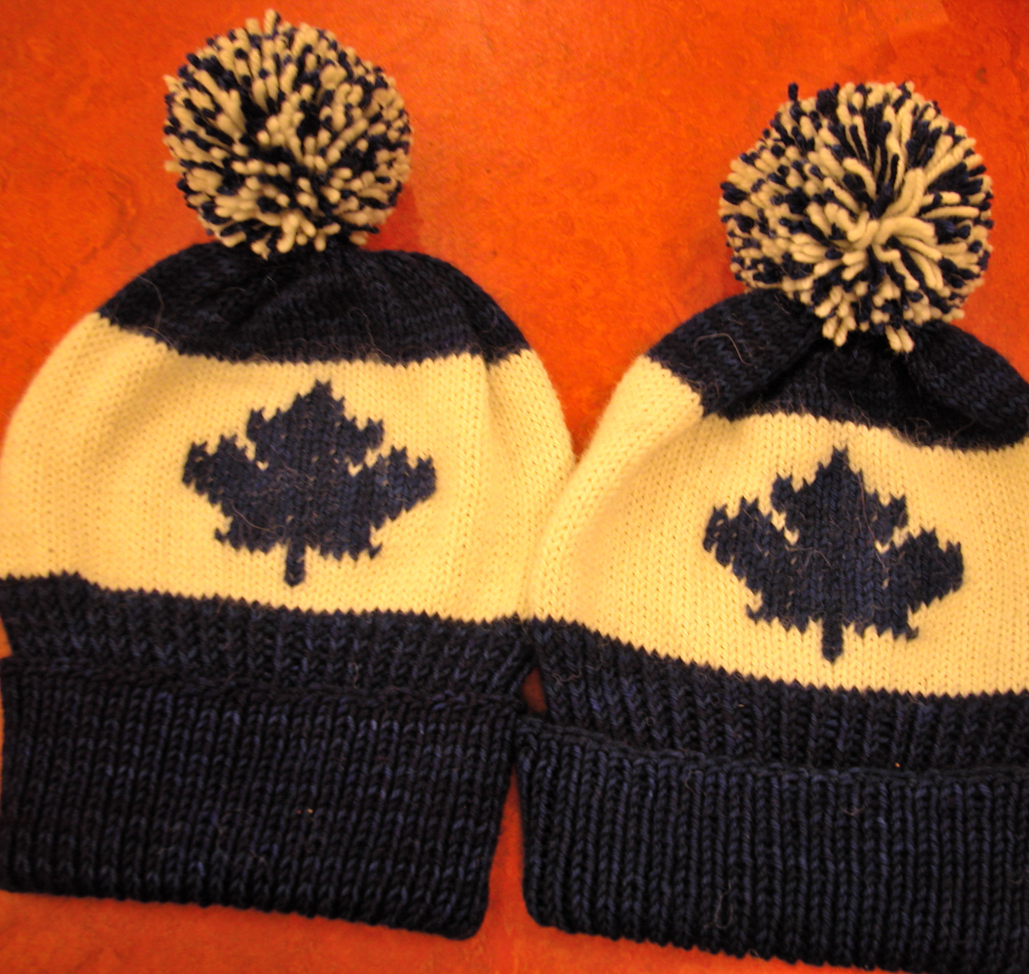 Maple Leaf Knitting Pattern : maple leafs hat the knit cafe