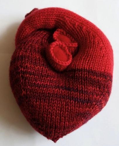 Heart Knit Pattern The Knit Cafe