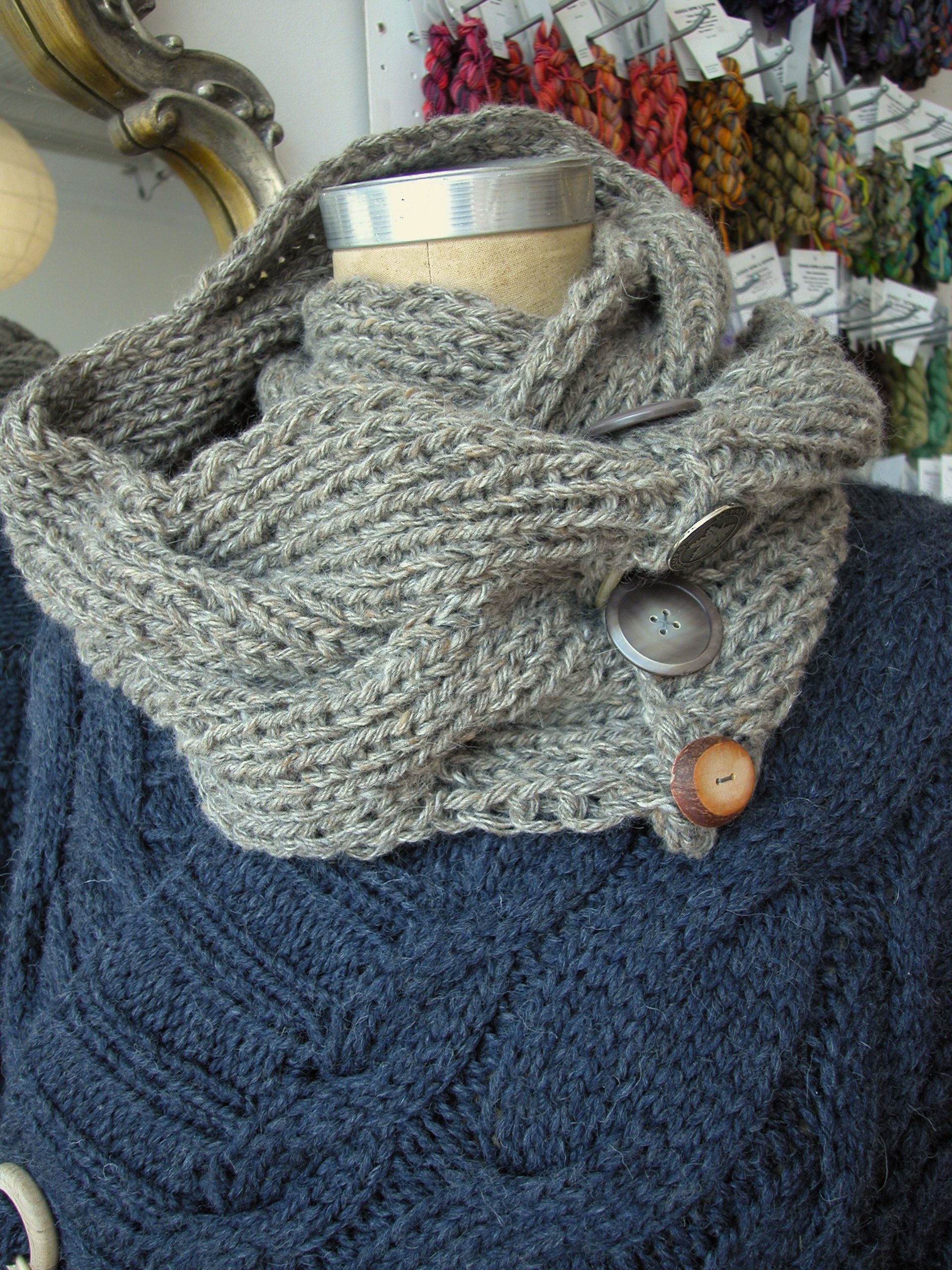reversible cable scarf pattern | the knit cafe