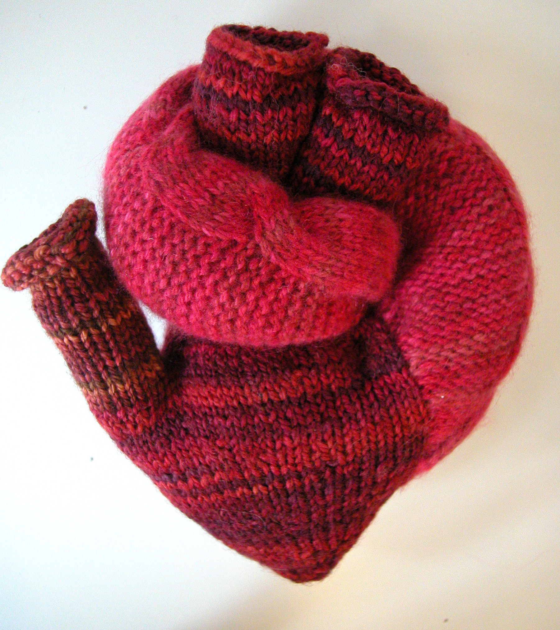 heart knit pattern | the knit cafe