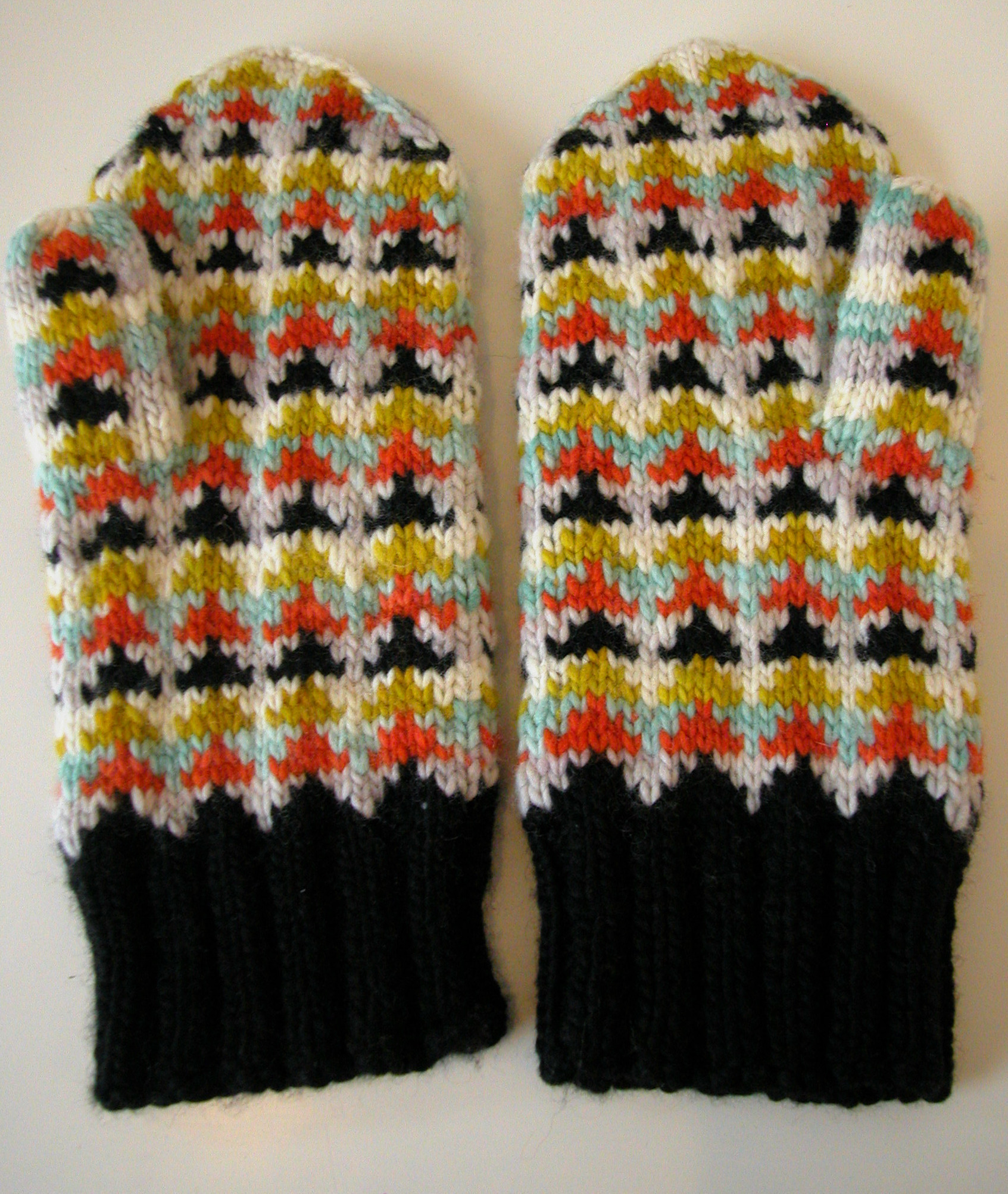 fairisle mitten pattern | the knit cafe