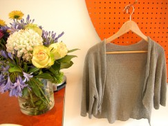 linen sweater in shop