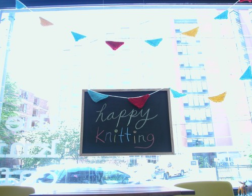 happy knitting window