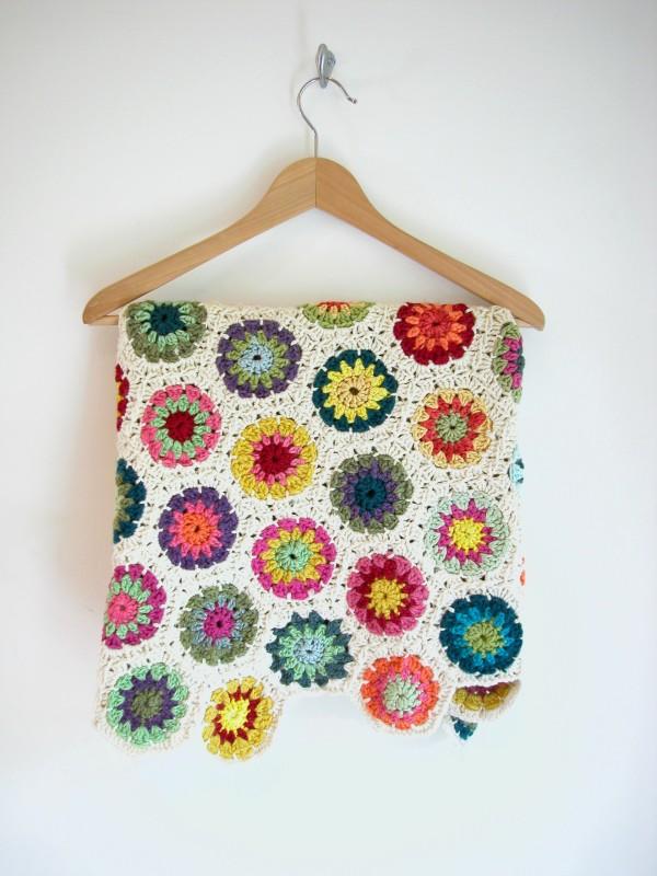 crochet blanket hexagons