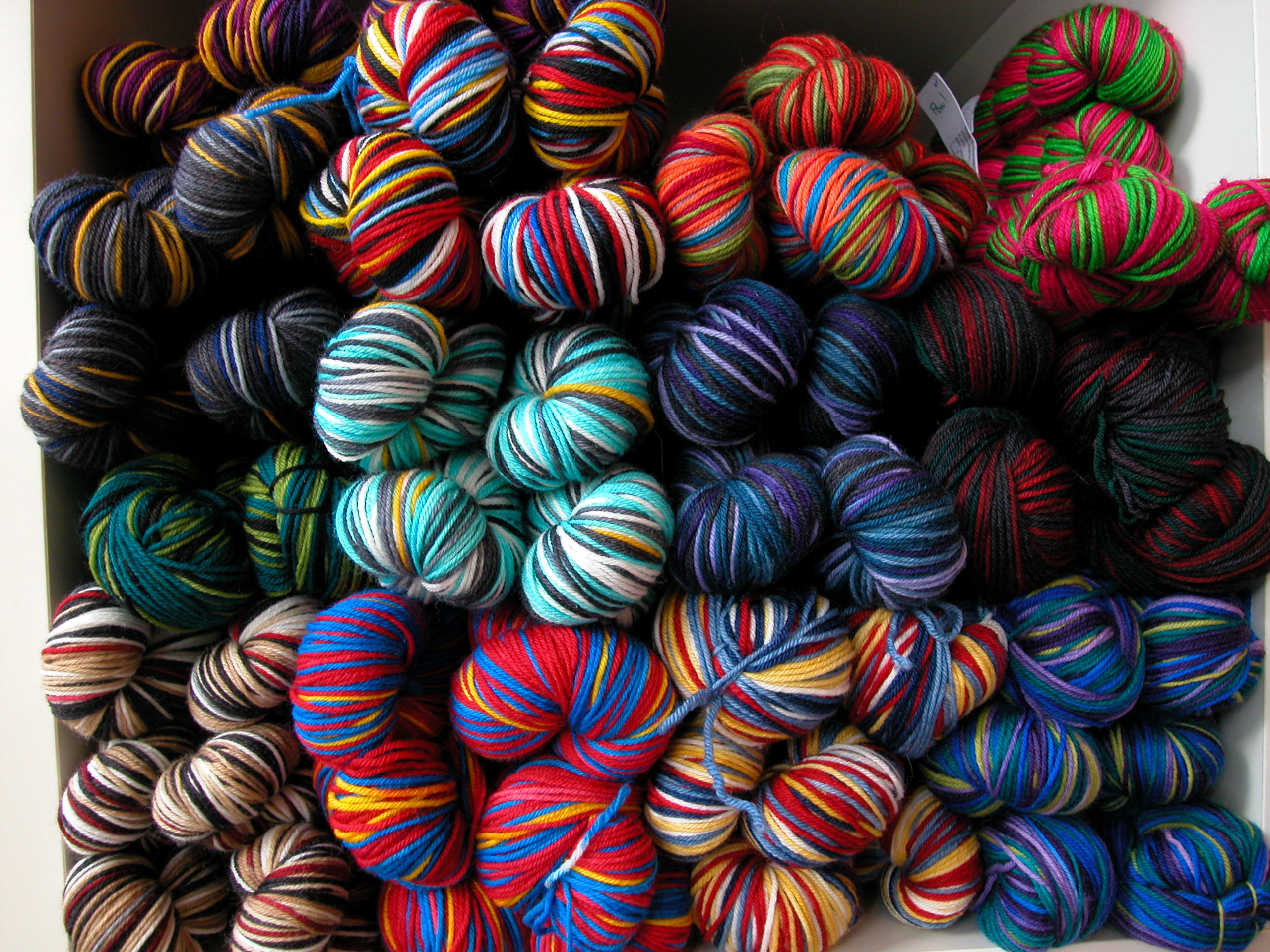 Self Patterning Sock Yarn The Knit Cafe