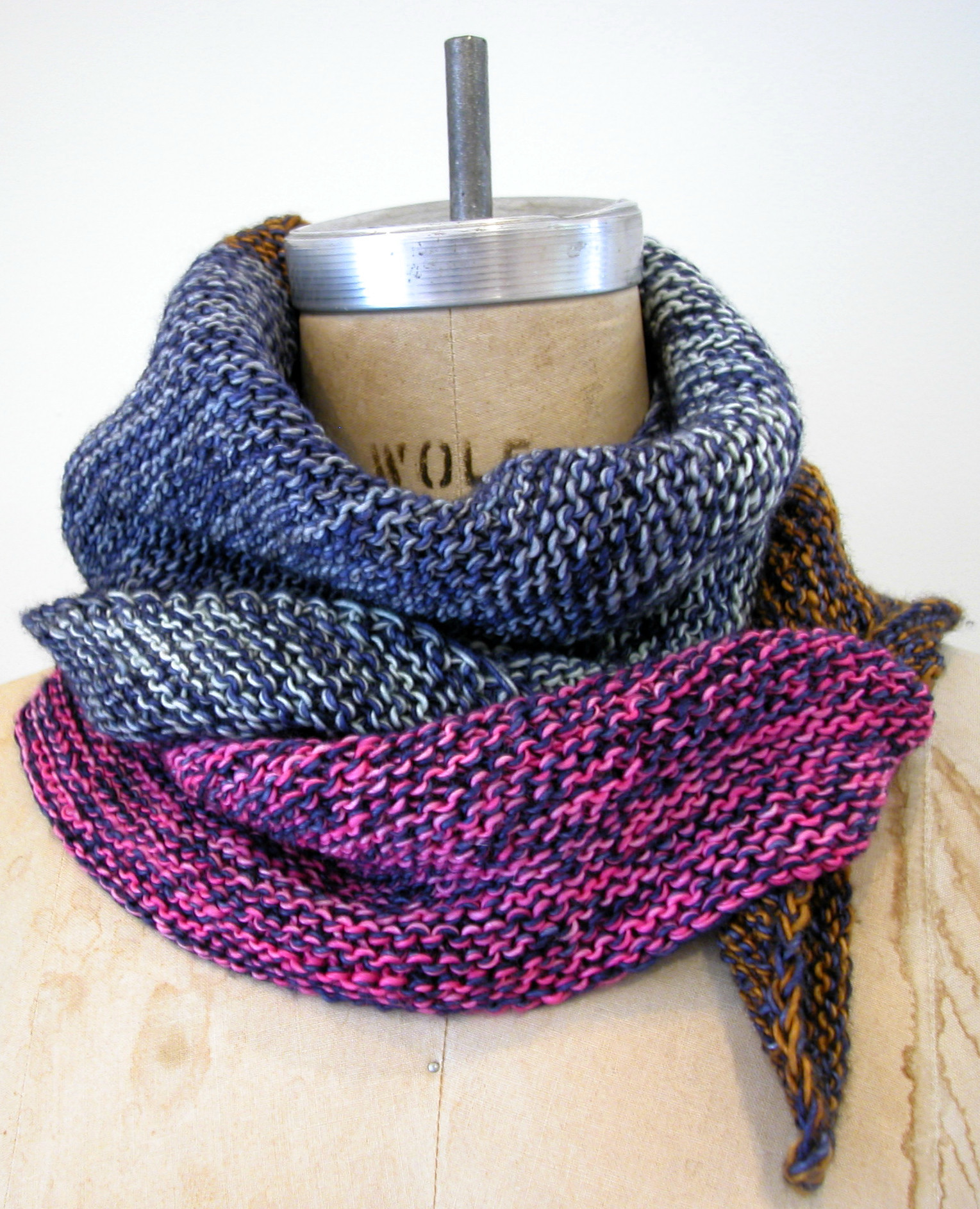double stranded scarf pattern | the knit cafe