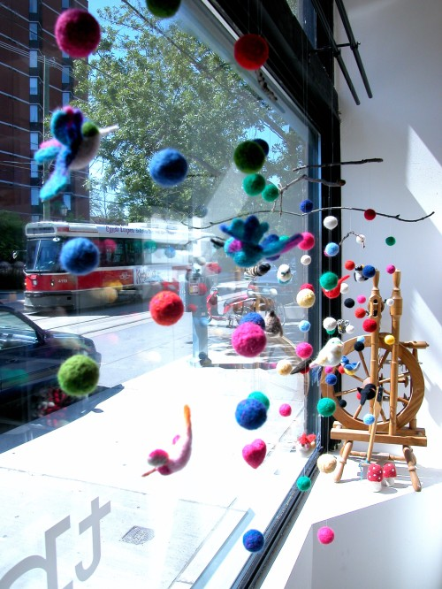 needle felt mobiles by the knit cafe