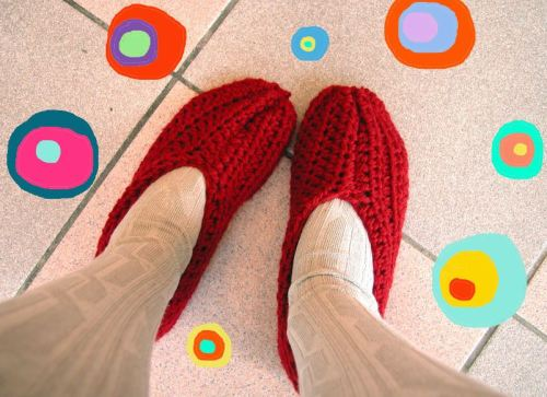 beginner crochet slipper
