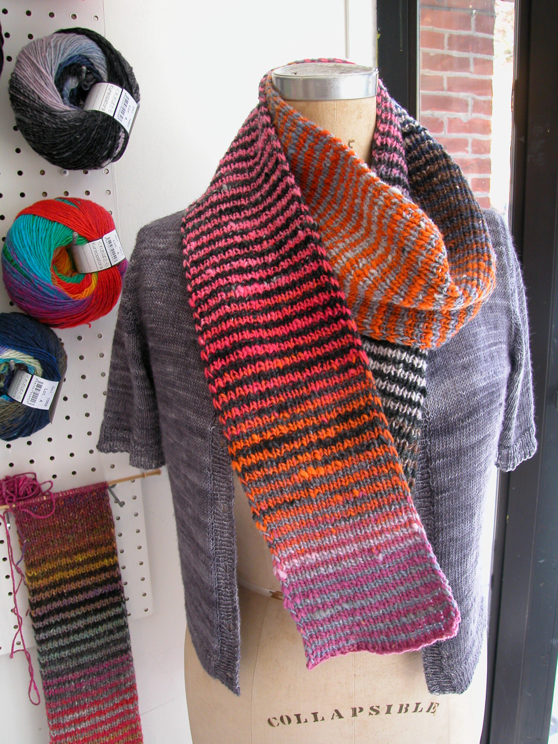 noro striped scarf | the knit cafe
