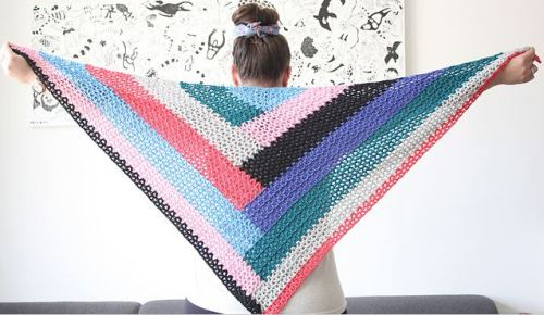 colour block shawl