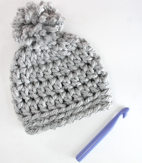 30 Minute Crochet Beanie by Persialou Crocheted with Super Bulky Yarn and  20mm hook 64 yards needed. One size to fit most adults 8e48ce444cd